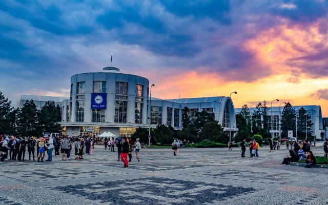 Budova výstaviště v Brně