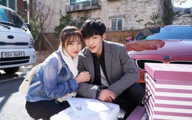 Kórejskí herci Joy z Red Velvet a Woo Do Hwan