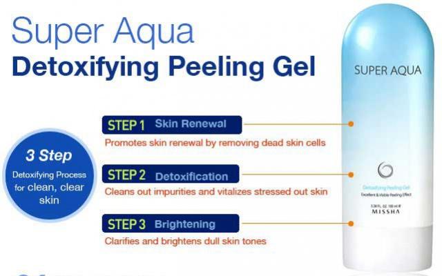 Missha Super Aqua Detoxifying Peeling Gel