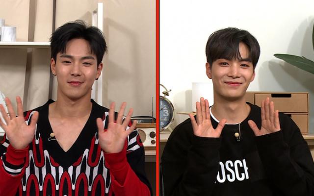 Shownu (Monsta X) a JR (NU′EST)