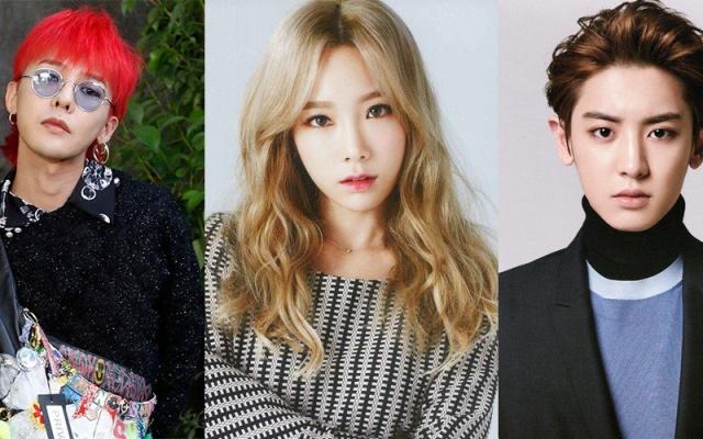 G-Dragon, Taeyeon, Chanyeol