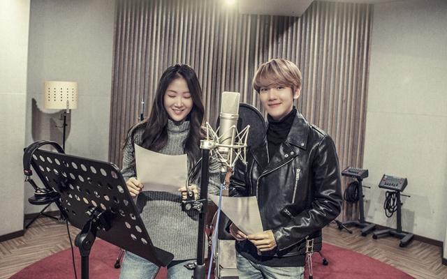 Baekhyun a Soyou ve studiu