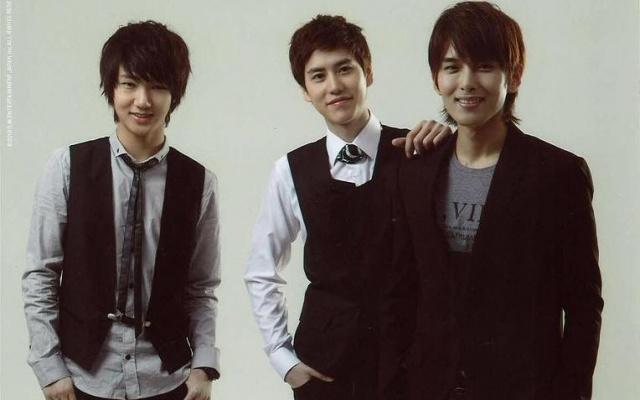 Super Junior KRY, zleva: Yesung, Kyuhyun, Ryeowook