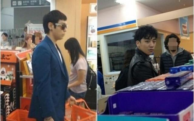 TOP a Seungri v obchodě v Japonsku